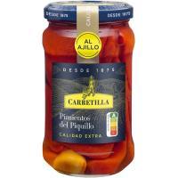 Pimiento de piquillo con ajo CARRETILLA, frasco 225 g