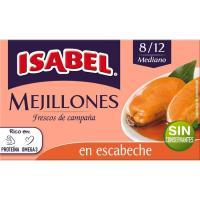 Mejillón en escabeche 8/12 piezas ISABEL, lata 115 g