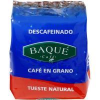 Café en grano descafeinado BAQUÉ, paquete 250 g