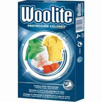 Toallitas color protection WOOLITE, caja 10 unid.