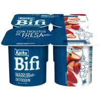 Yogur Bifi Activium con fresas KAIKU, pack 4x125 g