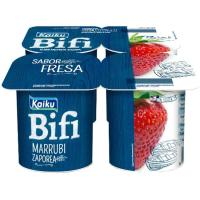 Yogur Bifi Activium de fresa KAIKU, pack 4x125 g