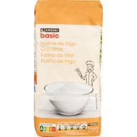Harina de trigo EROSKI basic, paquete 1 kg