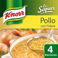 Sopa de pollo con fideos KNORR, sobre 63 g