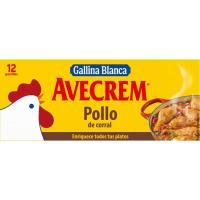Caldo de pollo AVECREM, 12 pastillas, caja 135 g