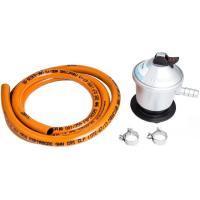 Kit para  butano homologado: regulador+manguera 1,5m+2 abrazaderas
