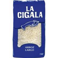 Arroz largo LA CIGALA, paquete 1 kg