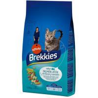 Mix de salmón-atún-verdura para gato BREKKIES, saco 1,5 kg