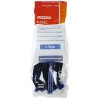 Maquinilla desechable 2 hojas EROSKI basic, pack 10 unid.
