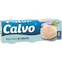 Atún claro al natural CALVO, pack 3x56 g