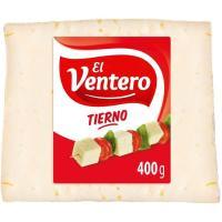 Queso tierno EL VENTERO, cuña 400 g