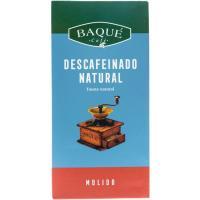 Café molido descafeinado BAQUÉ, paquete 250 g