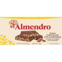 Turrón de chocolate con almendras EL ALMENDRO, caja 250 g