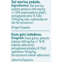 Sal marina yodada EROSKI, paquete 1 kg