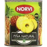 Piña en su jugo NORVI, lata 490 g
