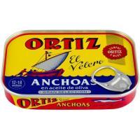 Anchoa en aceite de oliva ORTIZ, lata 50 g