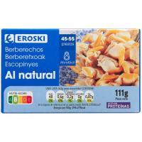Berberecho 45/55 piezas EROSKI, lata 58 g