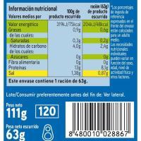 Berberecho 45/55 piezas EROSKI, lata 63 g