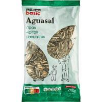Pipas de girasol aguasal EROSKI basic, bolsa 200 g