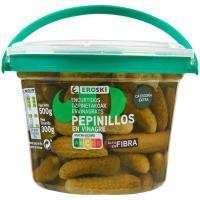Pepinillos en vinagre EROSKI, tarrina 300 g