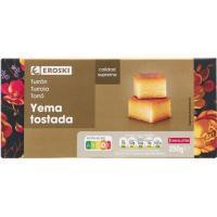 Turrón de yema tostada EROSKI, caja 250 g