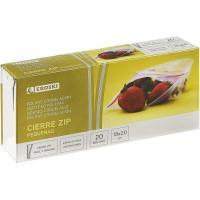 Bolsa para congelar 18x20 cm EROSKI, caja 20 uds