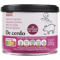 Paté de hígado de cerdo EROSKI basic, lata 200 g