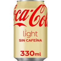 Refresco de cola light sin cafeína COCA COLA, lata 33 cl