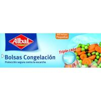 Bolsa pequeña para congelar ALBAL, caja 40 unid.