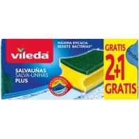 Salvauñas antibacterias  VILEDA, pack 3 unid.