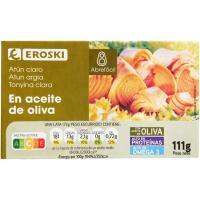 Atún claro en aceite de oliva EROSKI, lata 111 g