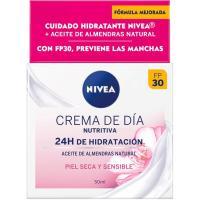 Crema hidratante piel seca-sensible NIVEA Visage, tarro 50 ml