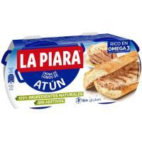 Paté de atún en aceite natural LA PIARA, pack 2x75 g