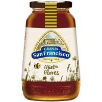 Miel de flores GRANJA SAN FRANCISCO, frasco 1 kg