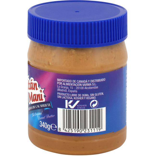 Crema de cacahuete crujiente CAPITAN MANI, frasco 340 g