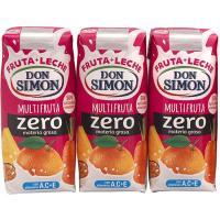 Lactozumo funciona sabor multifrutas DON SIMÓN, pack 3x300 ml