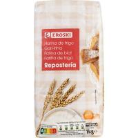 Harina de trigo para repostería EROSKI, paquete 1 kg