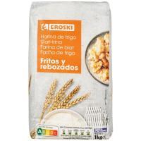 Harina de trigo para fritos EROSKI, paquete 1 kg