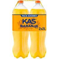Refresco de naranja KAS, pack 2x2 litros