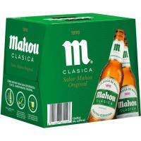 Cerveza clásica MAHOU, pack 12x25 cl