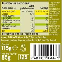 Melva de almadraba en aceite de oliva EROSKI, lata 115 g