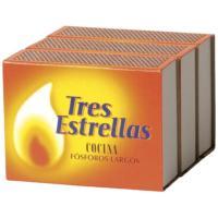 Fósforo HH100 TRES ESTRELLAS, paquete 3 unid.