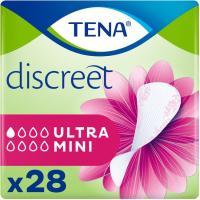 Protector incontinencia ultra mini TENA Discreet, paquete 28 uds