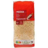 Arroz vaporizado EROSKI, paquete 1 kg