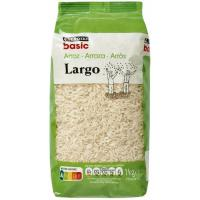 Arroz largo EROSKI basic, paquete 1 kg
