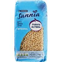 Arroz integral EROSKI Sannia, paquete 1 kg