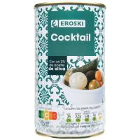 Cocktail en aceite de oliva EROSKI, lata 150 g