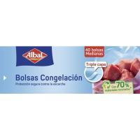 Bolsa para congelar Mediana  ALBAL, caja 40 unid.