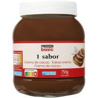 Crema de cacao 1 sabor EROSKI basic, bote 750 g