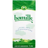 Leche semidesnatada BOMILK, brik 1 litro